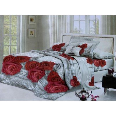 Семейное постельное белье София 3D (микросатин) - Парижская романтика