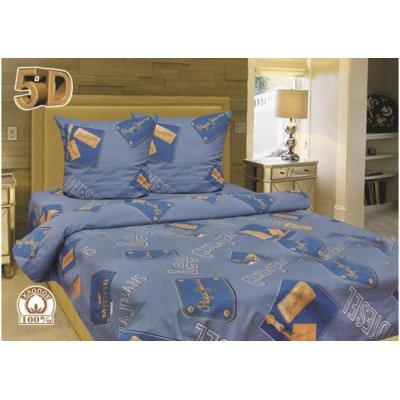 Молдавское полуторное постельное белье Бязь Tirotex - Diesel