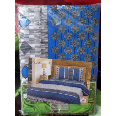 Молдавское двуспальное постельное белье Бязь Tirotex - Синева