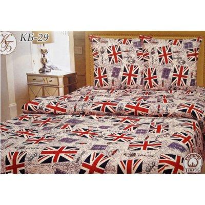 Молдавское полуторное постельное белье Бязь Tirotex - Флаг Америки