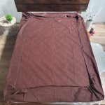 Простыня на резинке из Бязи Голд - Цвет коричевый - 180х200 см