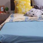 Простыня на резинке из Бязи Голд - Цвет голубой - 90х200 см