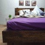 Простыня на резинке из Бязи Голд - Цвет фиолетовый - 140х200 см