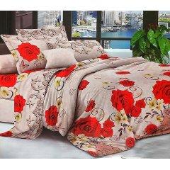 Двуспальное постельное белье София 3D (микросатин) - Розы для любимой