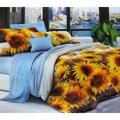 Двуспальное постельное белье София 3D (микросатин) - Много солнца