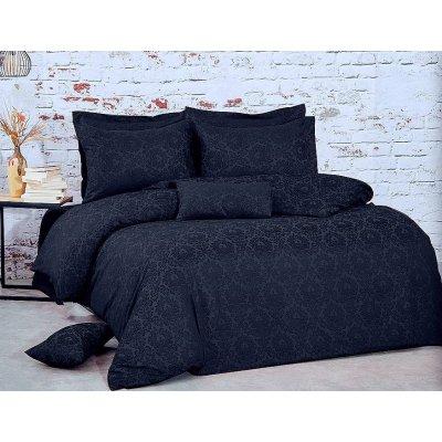 Турецкое постельное белье Жаккард-Сатин Luxury class (100% хлопок) - Чёрный
