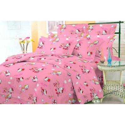 Постельное белье Бязь голд в кроватку - Hello Kitty