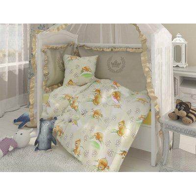 Постельное белье Бязь голд в кроватку - Медвежата на зеленом
