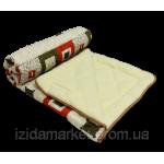 Меховое евро одеяло ткань полиестр