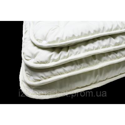 Однотонное полуторное одеяло шерстяное - ткань микрофибра