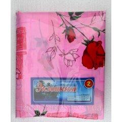 Розовое постельное белье с розами из дешевой бязи двухспальное