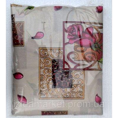 Двуспальное постельное белье бежевого цвета из дешевой бязи