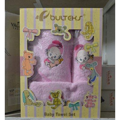 Комплект детских махровых полотенец в подарочной коробке - Турция