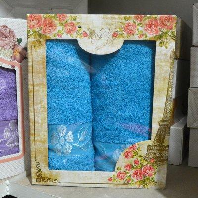 Набор из 2-х махровых полотенец в подарочной коробке - Турция