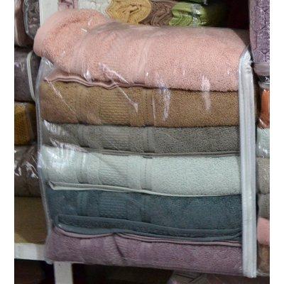 Набор банных полотенец 6 шт. разные цвета - Турция