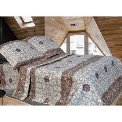 Двухспальное постельное белье Бязь Голд - Золотые вензеля