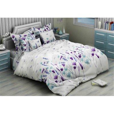 Полуторное постельное белье Бязь Голд - Снежное поле