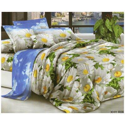 Полуторное постельное белье Бязь Голд - Ромашковое изобилие