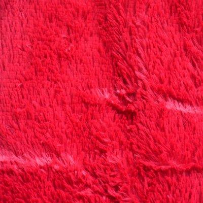 Меховое покрывало с длинным ворсом, Евро 220х240 - Цвет Красный