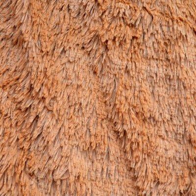 Меховое покрывало с длинным ворсом, Евро 220х240 - Цвет Какао