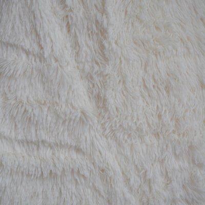Меховое покрывало с длинным ворсом, Евро 220х240 - Цвет Белый