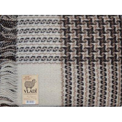 Плед шерстяной Рогожка «VLADI»  - Полуторный