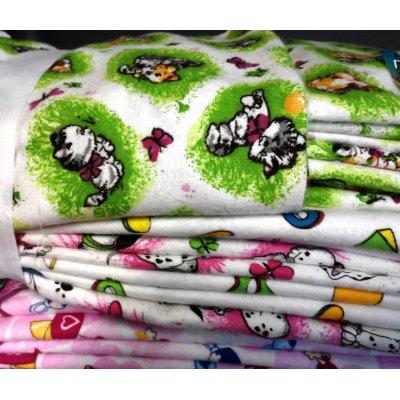 Пеленки из фланельки разных цветов размер 90х120