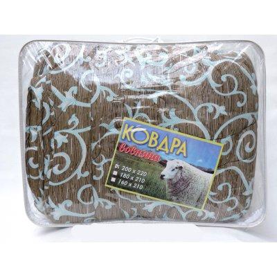 Шерстяное двухспальное одеяло - ткань полиэстр вензель