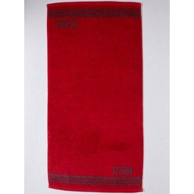 Полотенце махровое Cool, 50х90 см, дизайн Cool красный