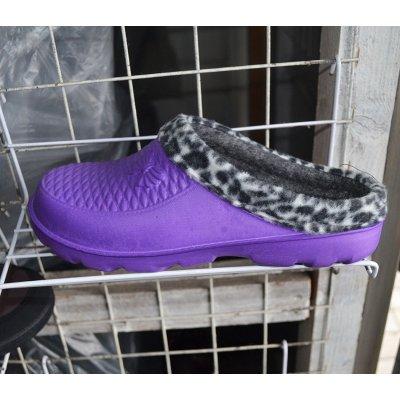 Тапочки резиновые на зиму женские с мехом, сезон 2016 - Артикул 137-27