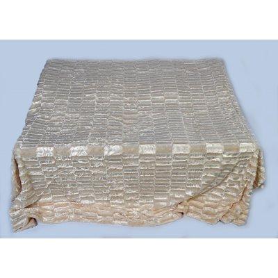 Покрывало-одеяло выбитое эвро размера - Код 4-39