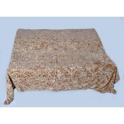 Покрывало-одеяло выбитое эвро размера - Код 4-41