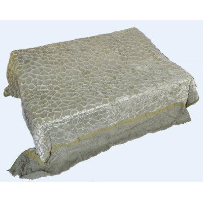 Покрывало-одеяло выбитое двустороннее эвро размера - Код 4-50