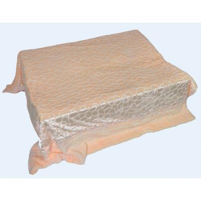 Покрывало-одеяло выбитое двустороннее эвро размера - Код 4-51