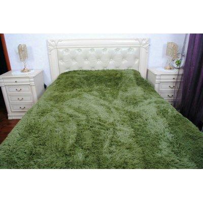 Покрывало на кровать травка, Евро 220х240 - Цвет темно - зеленый