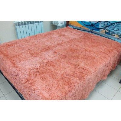 Покрывало на кровать травка, Евро 220х240 - Цвет персиковий