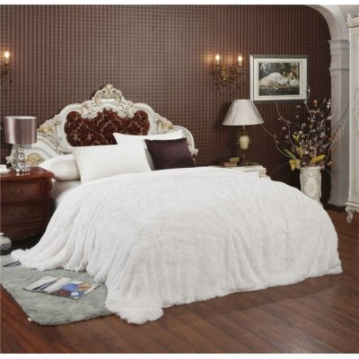 Покрывало на кровать травка, Евро 220х240 - Цвет молочный