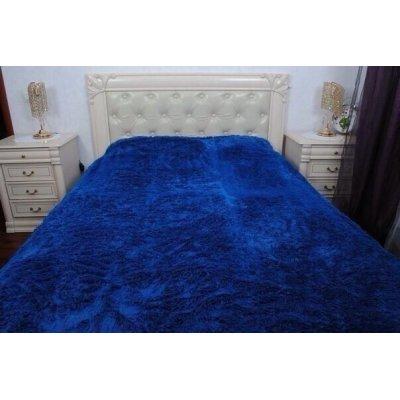 Покрывало на кровать травка, Евро 220х240 - Цвет темно-синий