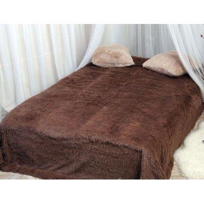 Покрывало на кровать травка, Евро 220х240 - Цвет коричневый