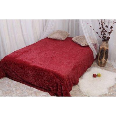 Покрывало на кровать травка, Евро 220х240 - Цвет красный