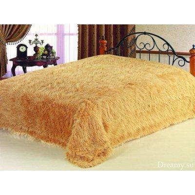 Покрывало на кровать травка, Евро 220х240 - Цвет оранжевый