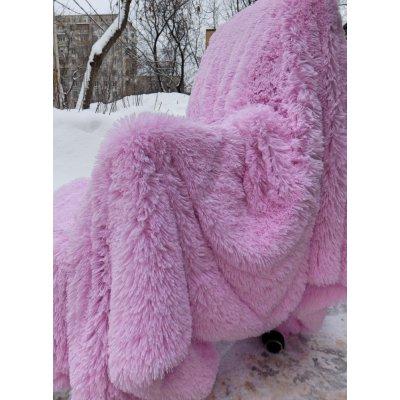 Покрывало на кровать травка, Евро 220х240 - Цвет розовый