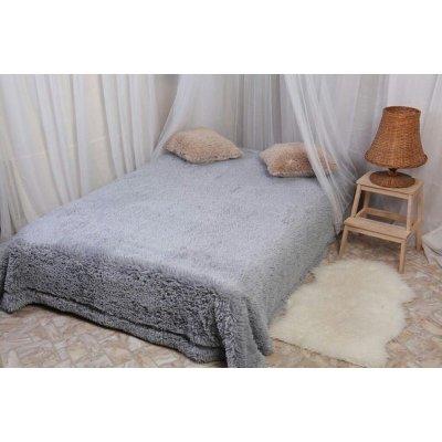 Покрывало на кровать травка, Евро 220х240 - Цвет серый