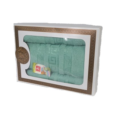 Комплект из 3-х махровых полотенец в подарочной коробке