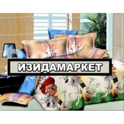 Полуторное постельное белье бязь Ранфорс - pbr-28