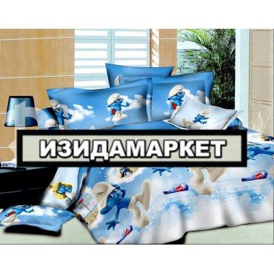 Полуторное постельное белье бязь Ранфорс - pbr-108