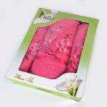 Комплект турецких махровых полотенец в подарочной коробке