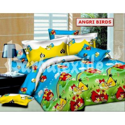 Детское полуторное постельное Angry birds