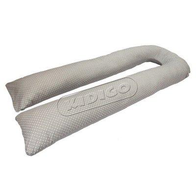 Подушка для беременных U образная Горошек (с наволочкой)