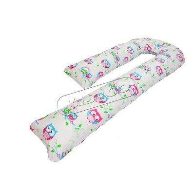 Подушка для беременных «J» образная (с наволочкой) - Совушки